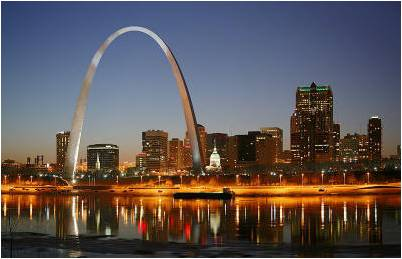 The Arch in St Louis, MO